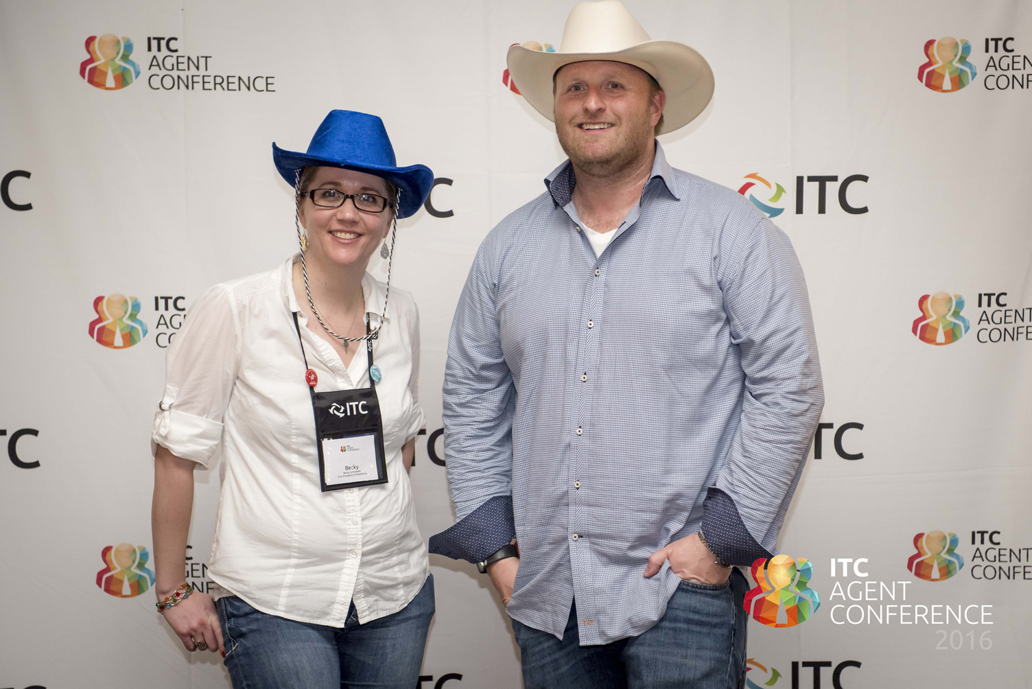 Becky Schroeder and Laird Rixford at ITC Agent Conference 2016
