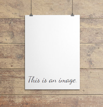 'This is an image' memo note
