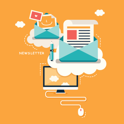 email newsletter illustration