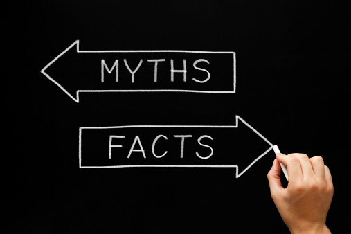 myth and facts on chalkboard
