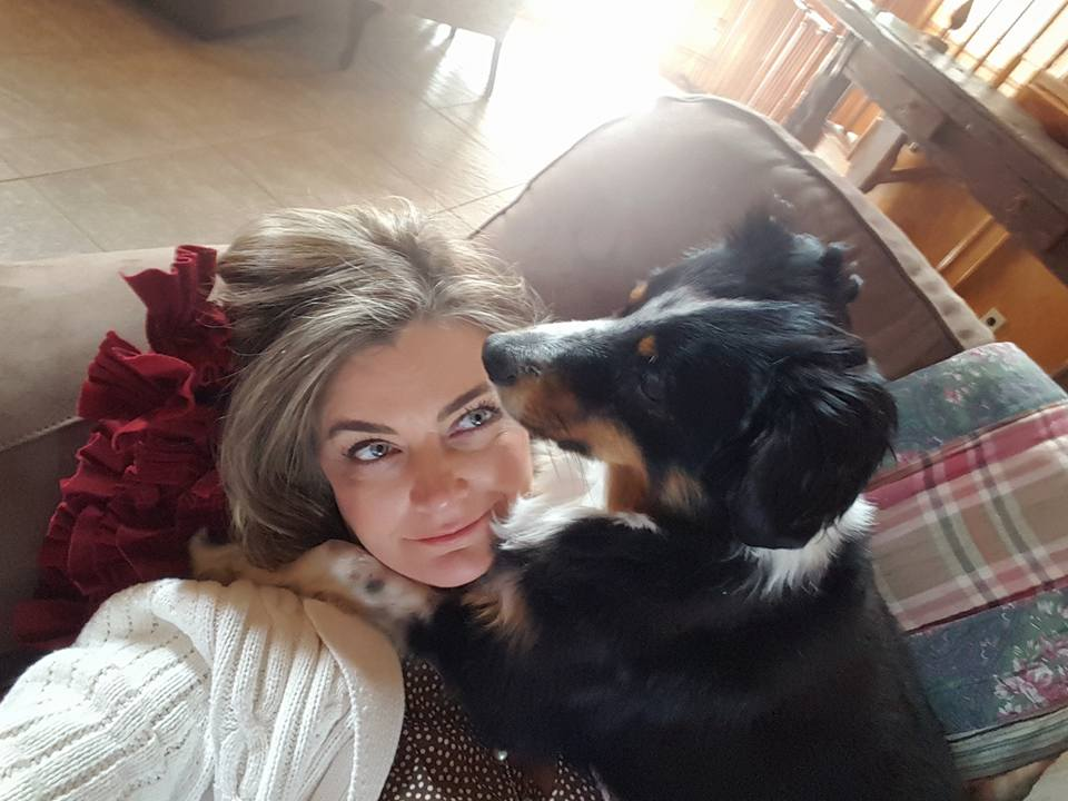 Misty Hoskins and dog Coco